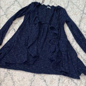 Girls blue cardigan Sz M